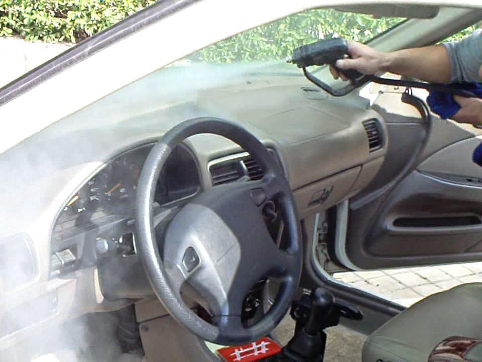 شستشوی داخل خودرو با کارواش بخار نانو